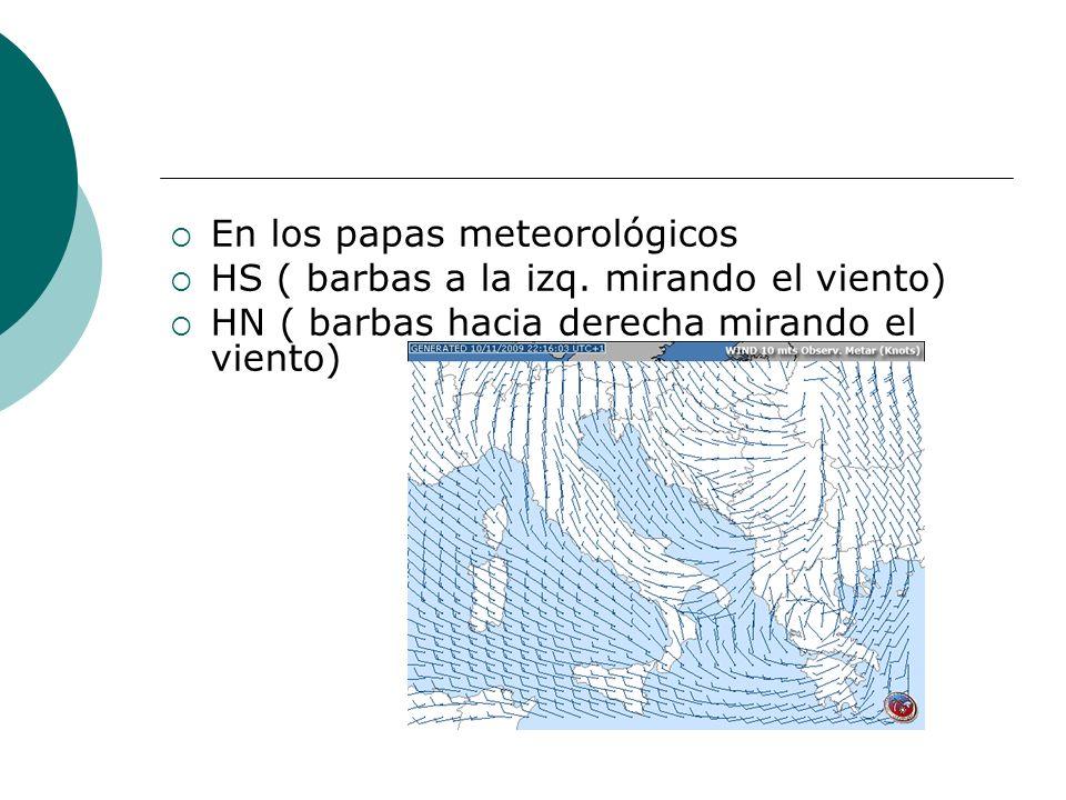 En los papas meteorológicos