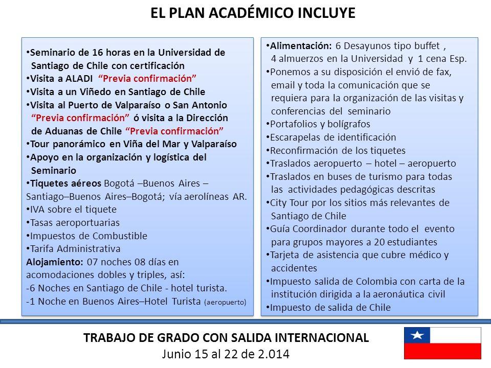 EL PLAN ACADÉMICO INCLUYE TRABAJO DE GRADO CON SALIDA INTERNACIONAL