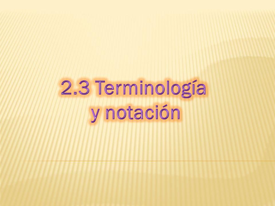 2.3 Terminología y notación