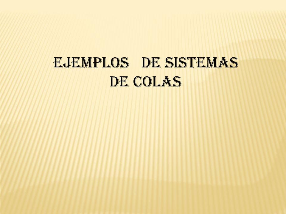 Ejemplos de sistemas de colas
