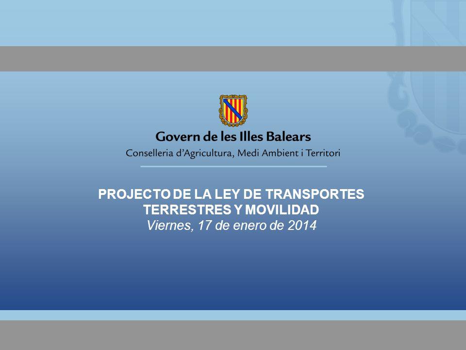 PROJECTO DE LA LEY DE TRANSPORTES TERRESTRES Y MOVILIDAD