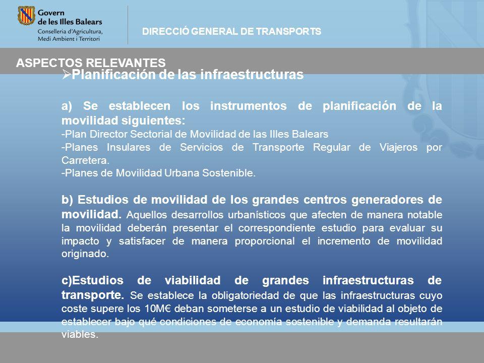Planificación de las infraestructuras