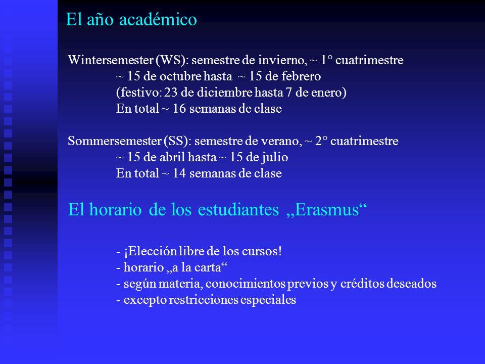 """El horario de los estudiantes """"Erasmus"""