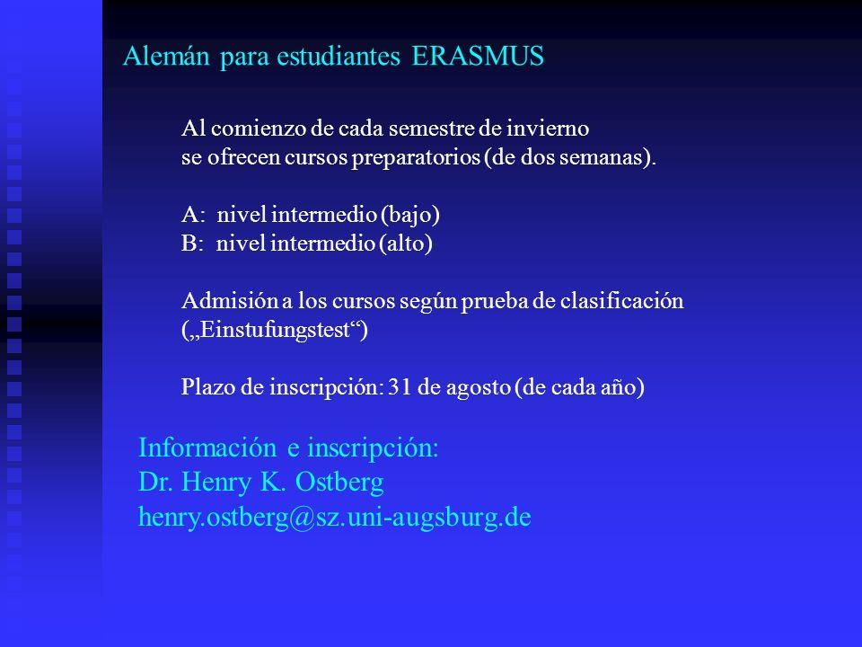 Alemán para estudiantes ERASMUS