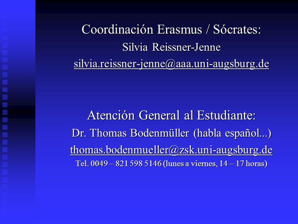 Coordinación Erasmus / Sócrates: