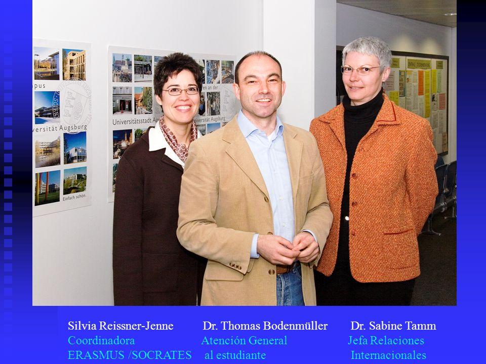 Silvia Reissner-Jenne Dr. Thomas Bodenmüller Dr. Sabine Tamm
