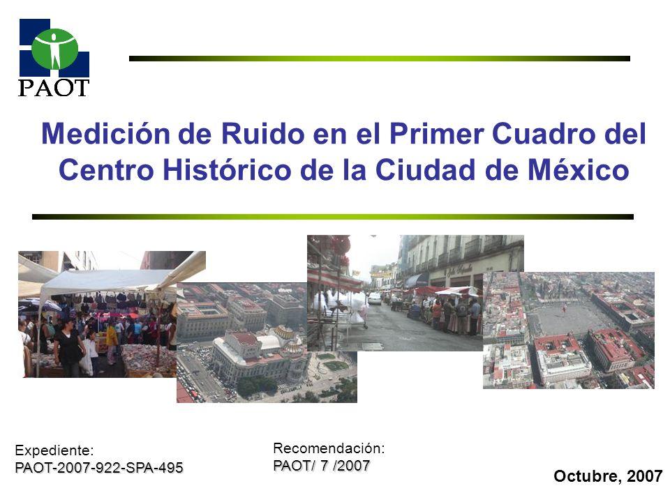 Medición de Ruido en el Primer Cuadro del Centro Histórico de la Ciudad de México
