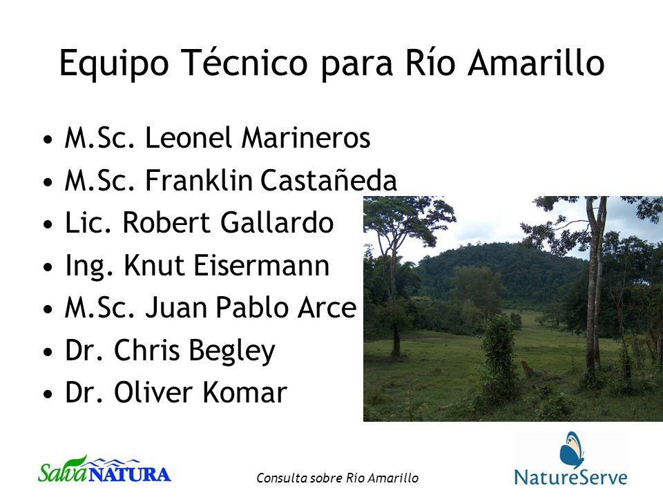 Equipo Técnico para Río Amarillo