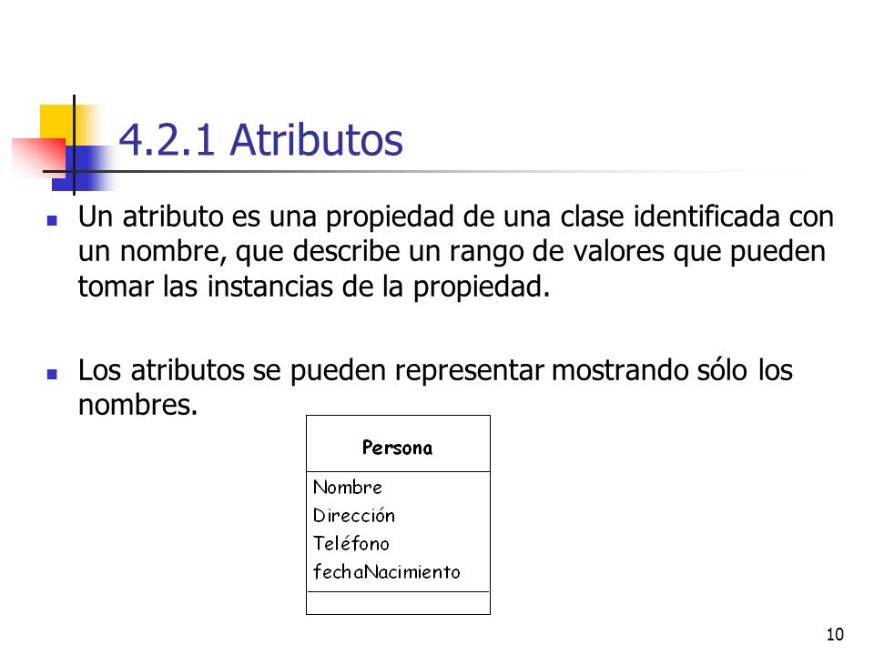 4.2.1 Atributos