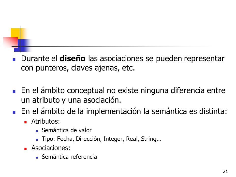 En el ámbito de la implementación la semántica es distinta: