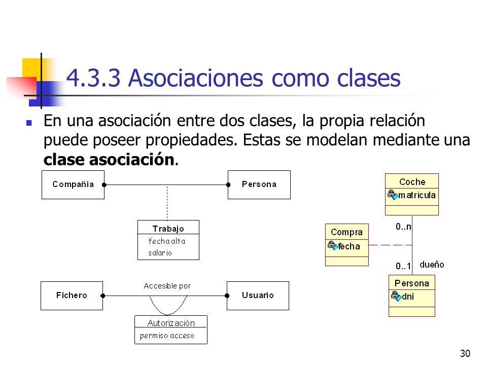 4.3.3 Asociaciones como clases