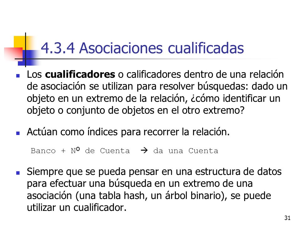 4.3.4 Asociaciones cualificadas