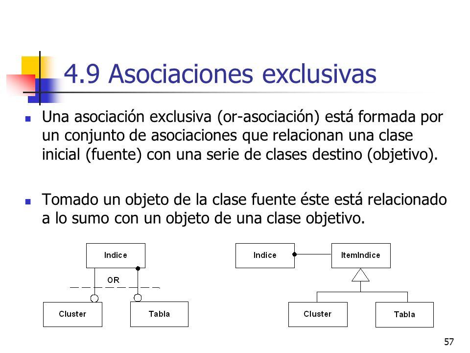 4.9 Asociaciones exclusivas