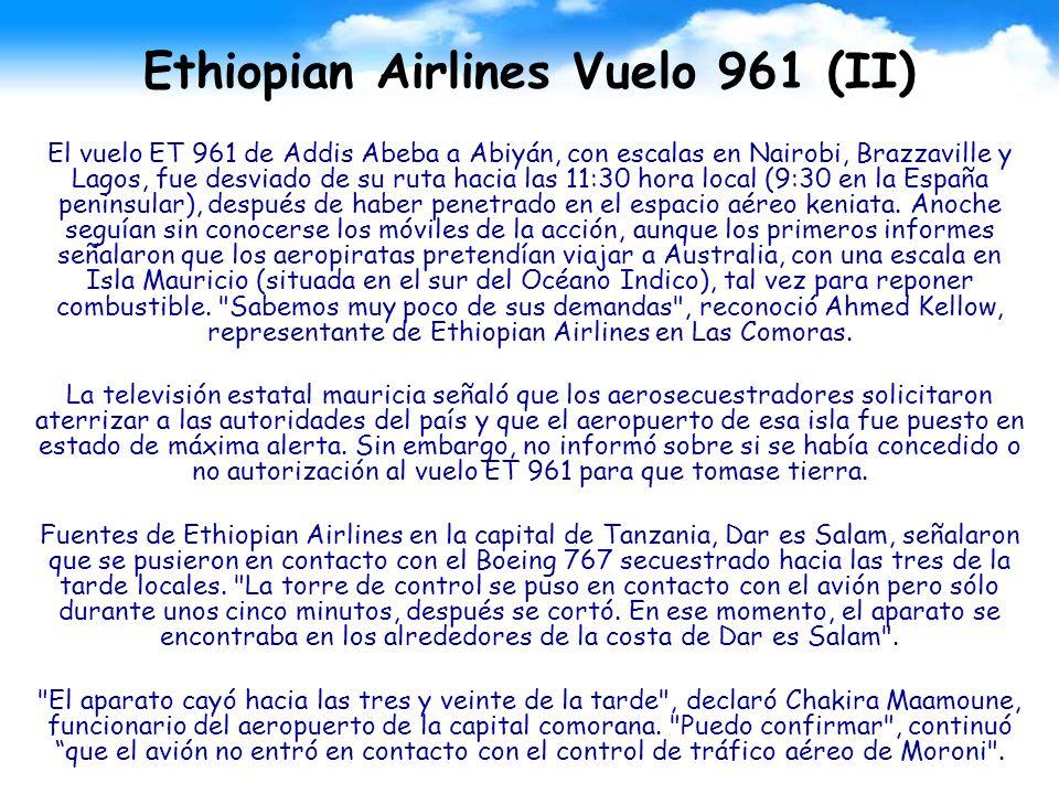 Ethiopian Airlines Vuelo 961 (II)