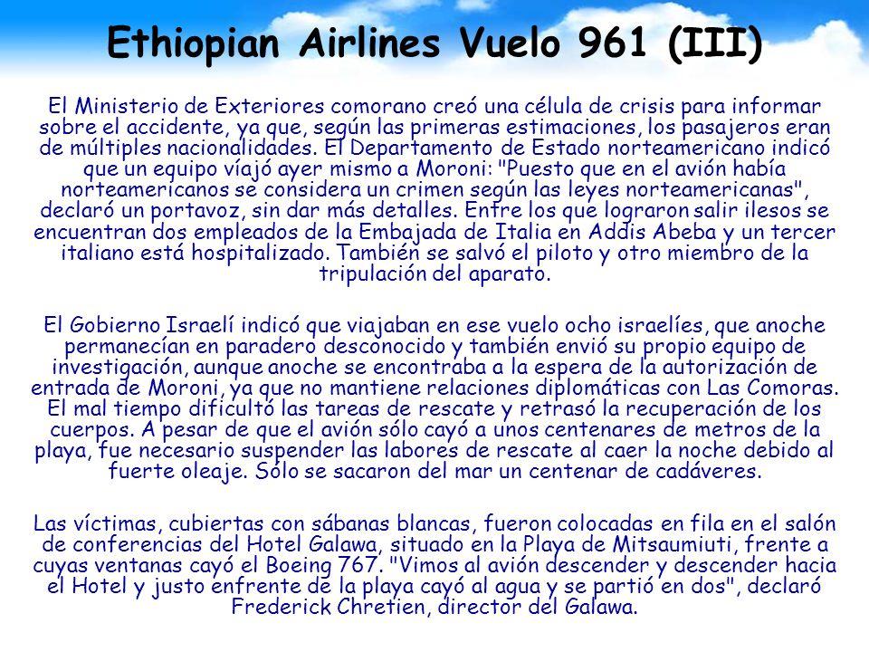 Ethiopian Airlines Vuelo 961 (III)
