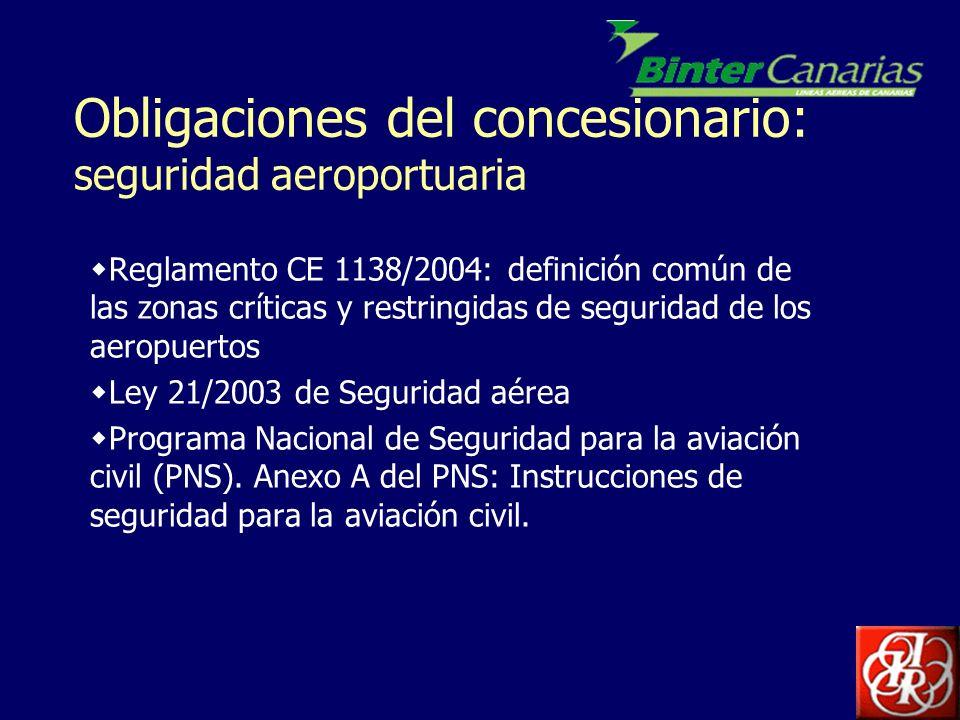 Obligaciones del concesionario: seguridad aeroportuaria