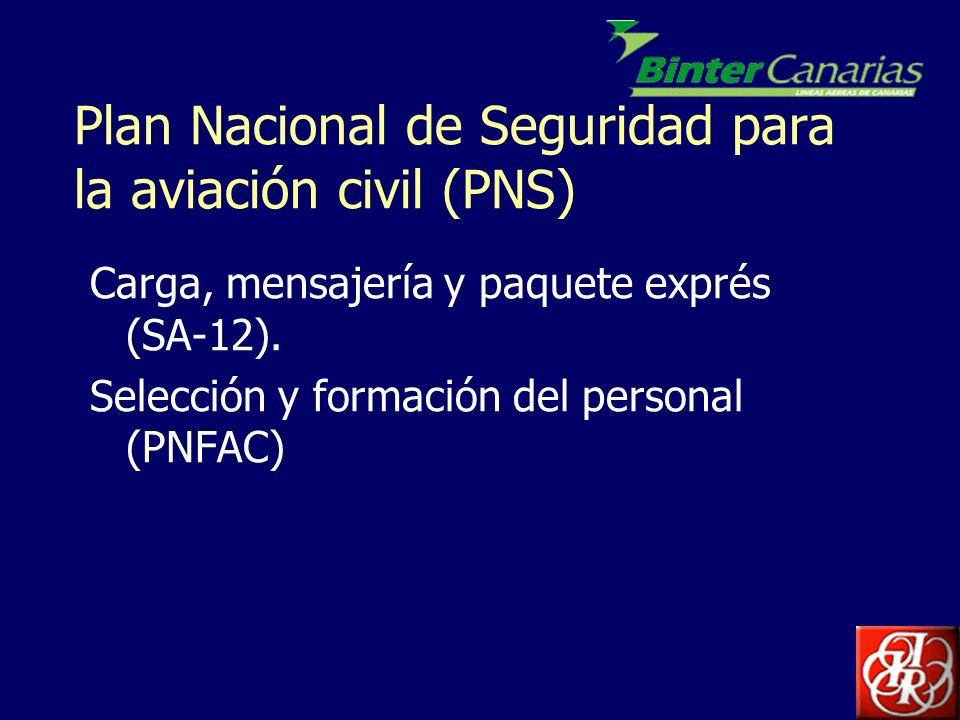 Plan Nacional de Seguridad para la aviación civil (PNS)