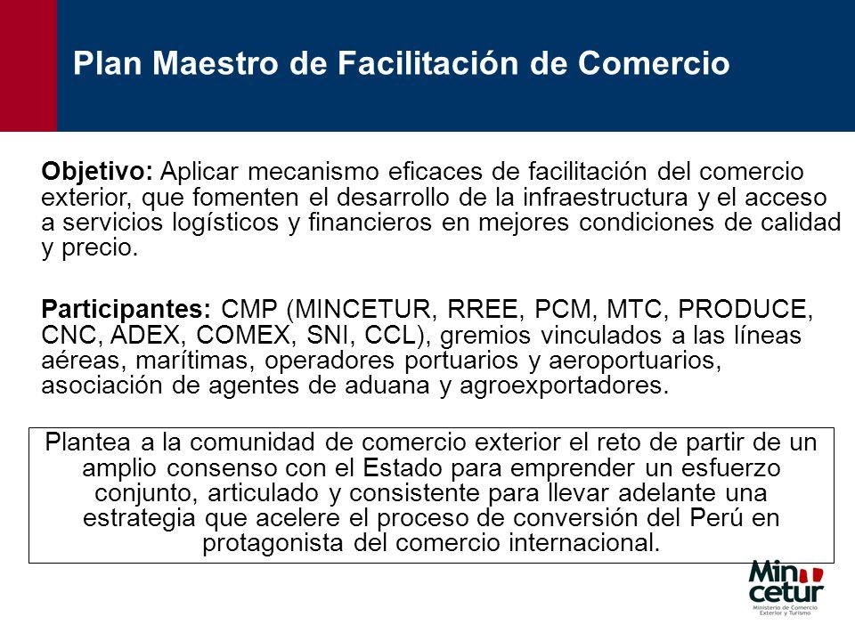 Plan Maestro de Facilitación de Comercio