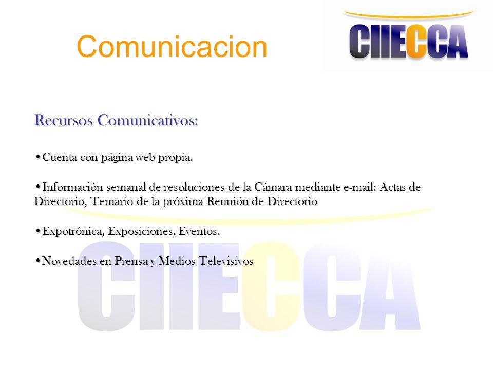 Comunicacion Recursos Comunicativos: Cuenta con página web propia.