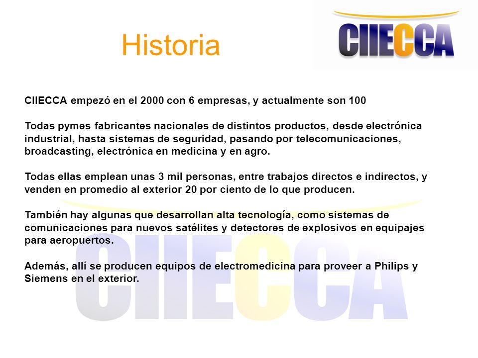 Historia CIIECCA empezó en el 2000 con 6 empresas, y actualmente son 100.