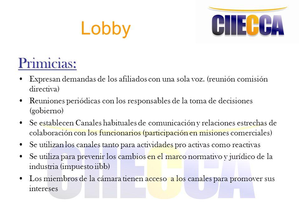 Lobby Primicias: Expresan demandas de los afiliados con una sola voz. (reunión comisión directiva)