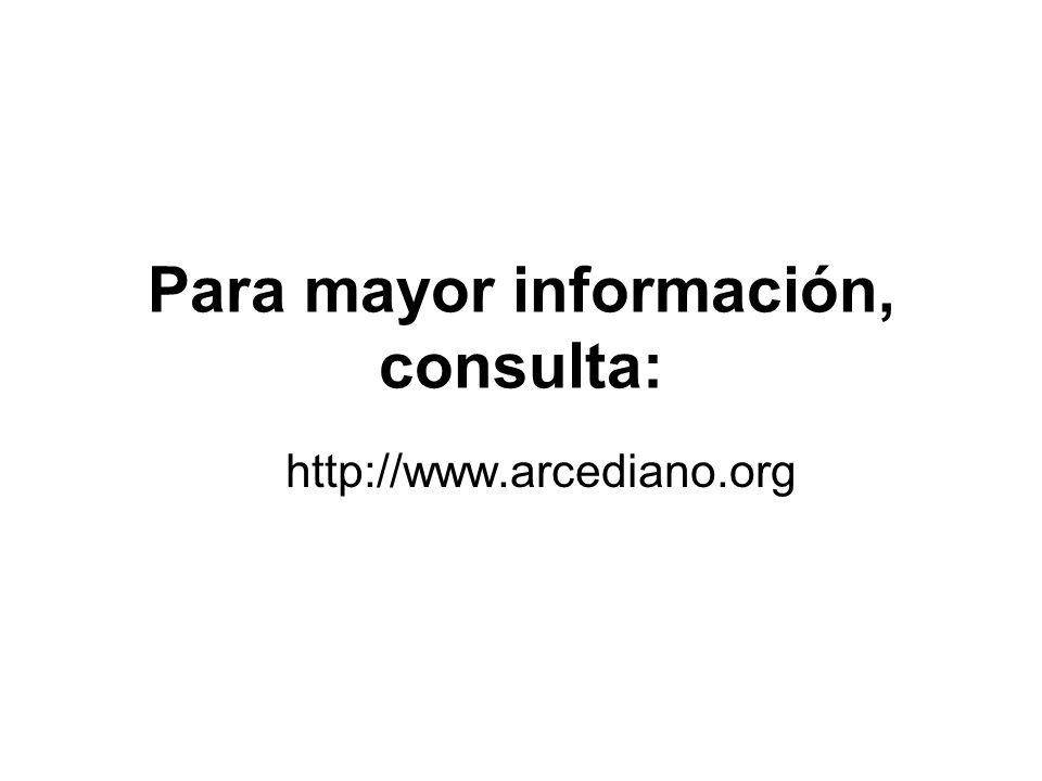 Para mayor información, consulta:
