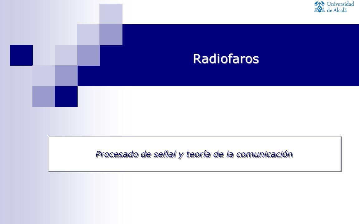 Procesado de señal y teoría de la comunicación