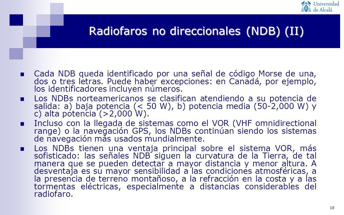 Radiofaros no direccionales (NDB) (II)