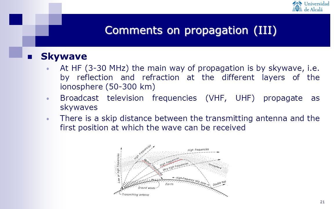 Comments on propagation (III)