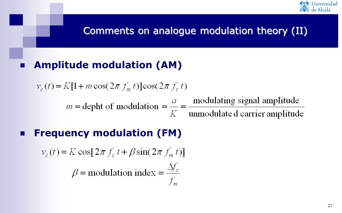 Comments on analogue modulation theory (II)