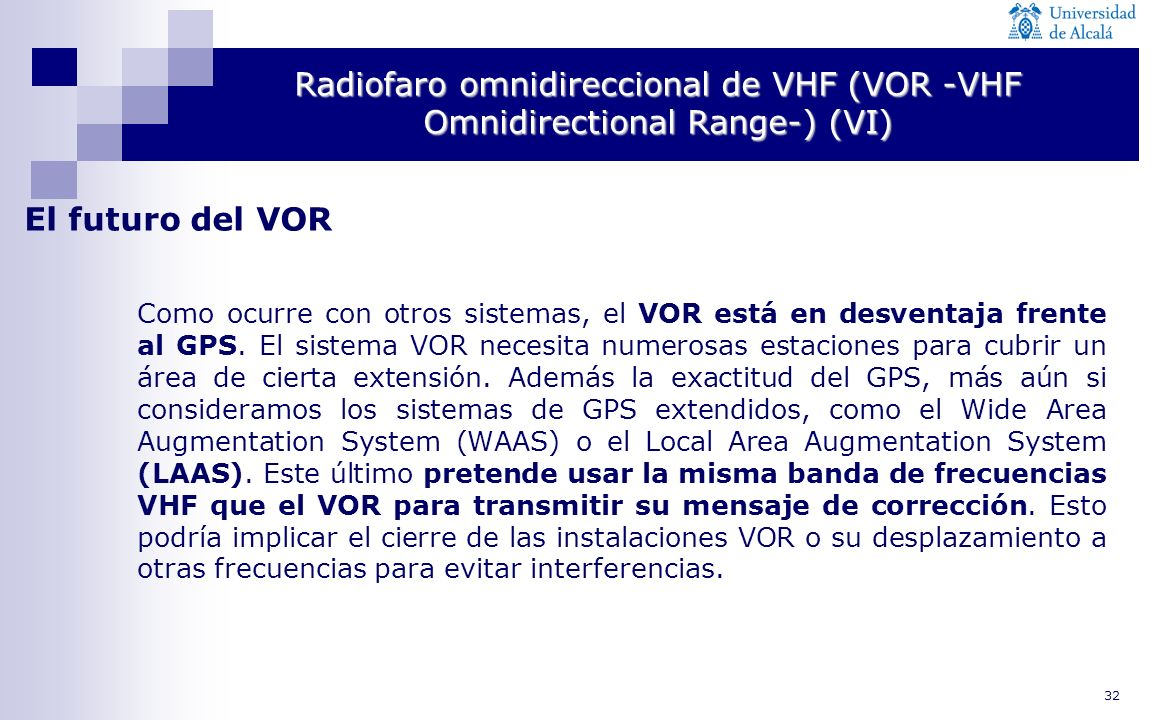 Radiofaro omnidireccional de VHF (VOR -VHF Omnidirectional Range-) (VI)