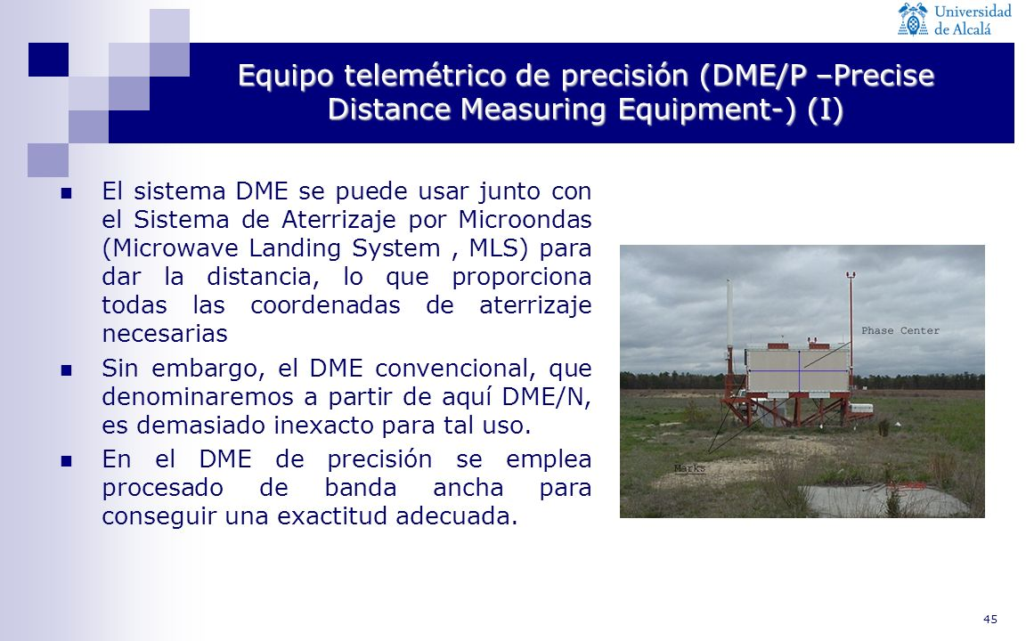 Equipo telemétrico de precisión (DME/P –Precise Distance Measuring Equipment-) (I)