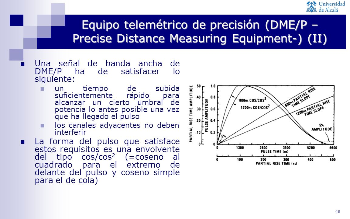 Equipo telemétrico de precisión (DME/P –Precise Distance Measuring Equipment-) (II)