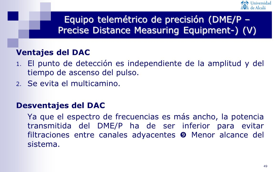 Equipo telemétrico de precisión (DME/P –Precise Distance Measuring Equipment-) (V)