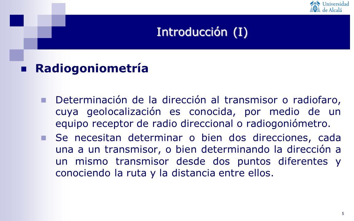Introducción (I) Radiogoniometría