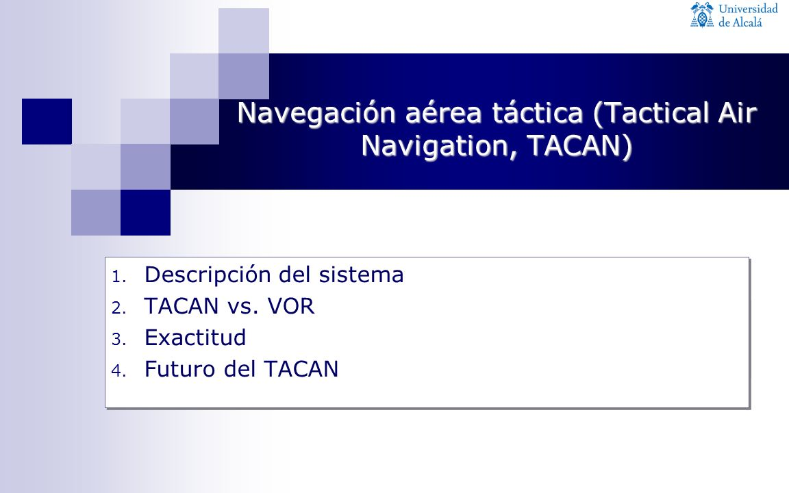 Navegación aérea táctica (Tactical Air Navigation, TACAN)