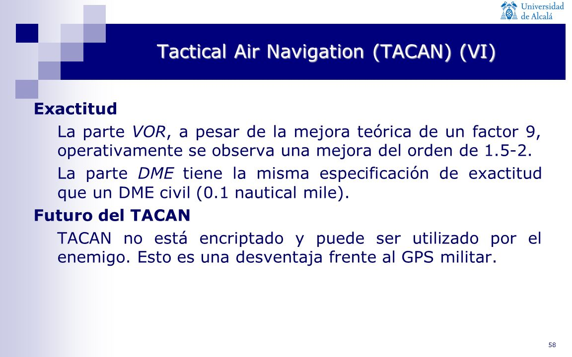 Tactical Air Navigation (TACAN) (VI)