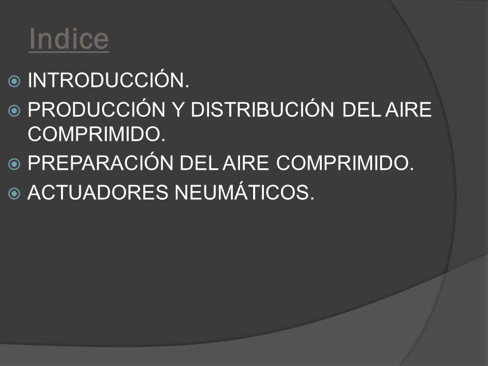 Indice INTRODUCCIÓN. PRODUCCIÓN Y DISTRIBUCIÓN DEL AIRE COMPRIMIDO.