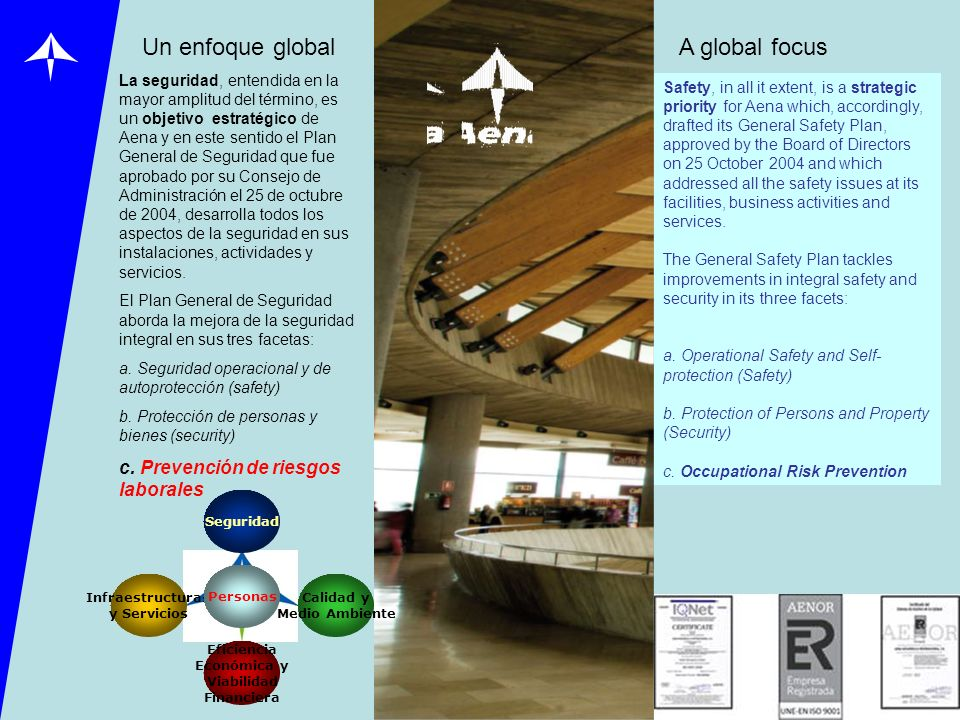 Un enfoque global A global focus c. Prevención de riesgos laborales