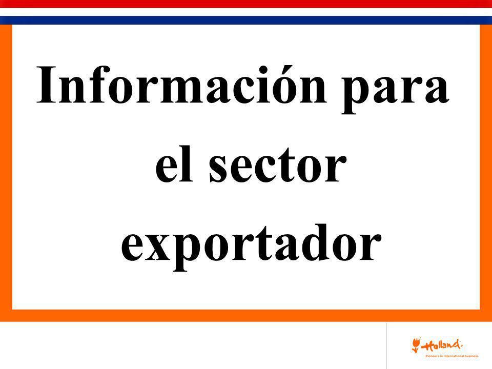 Información para el sector exportador