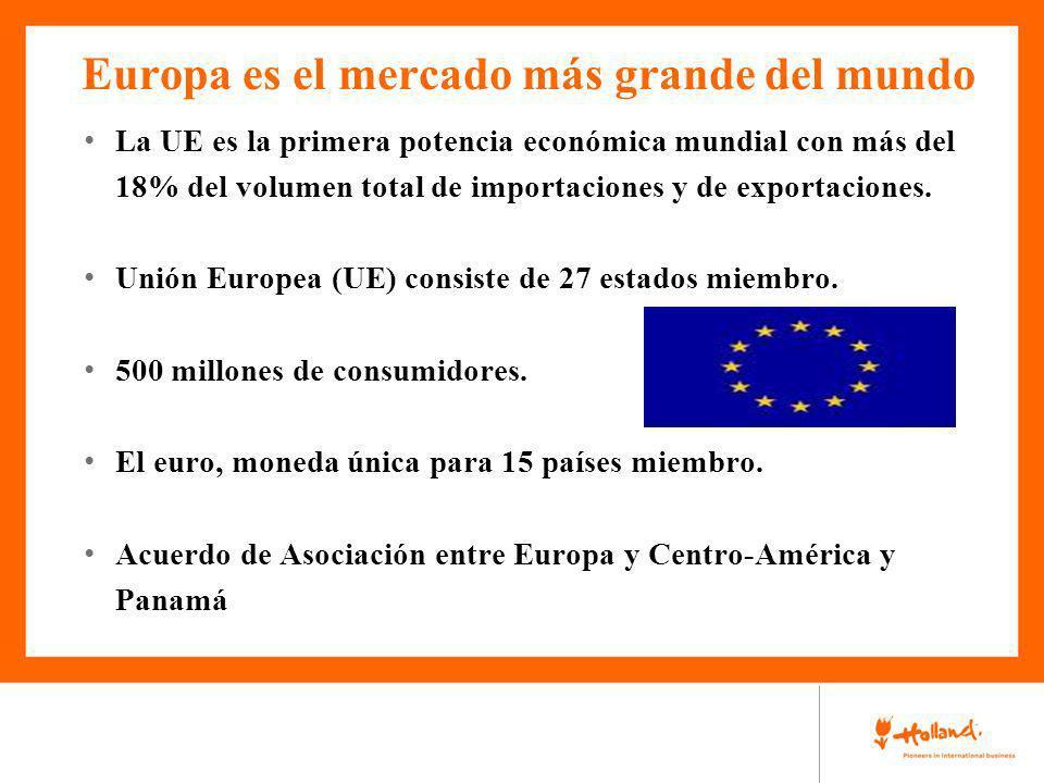 Europa es el mercado más grande del mundo