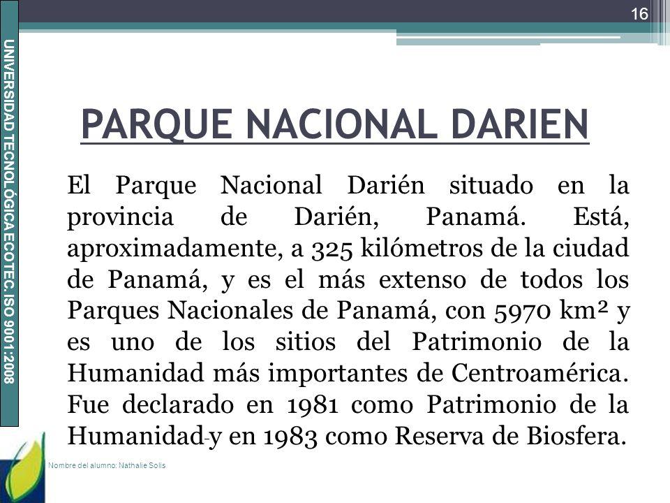 PARQUE NACIONAL DARIEN