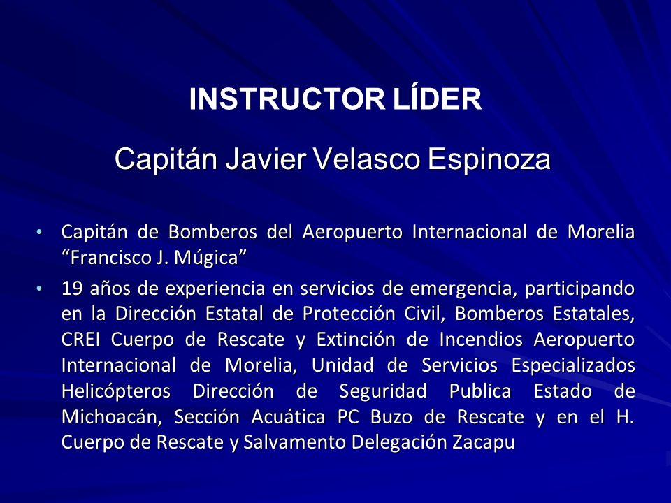 Capitán Javier Velasco Espinoza