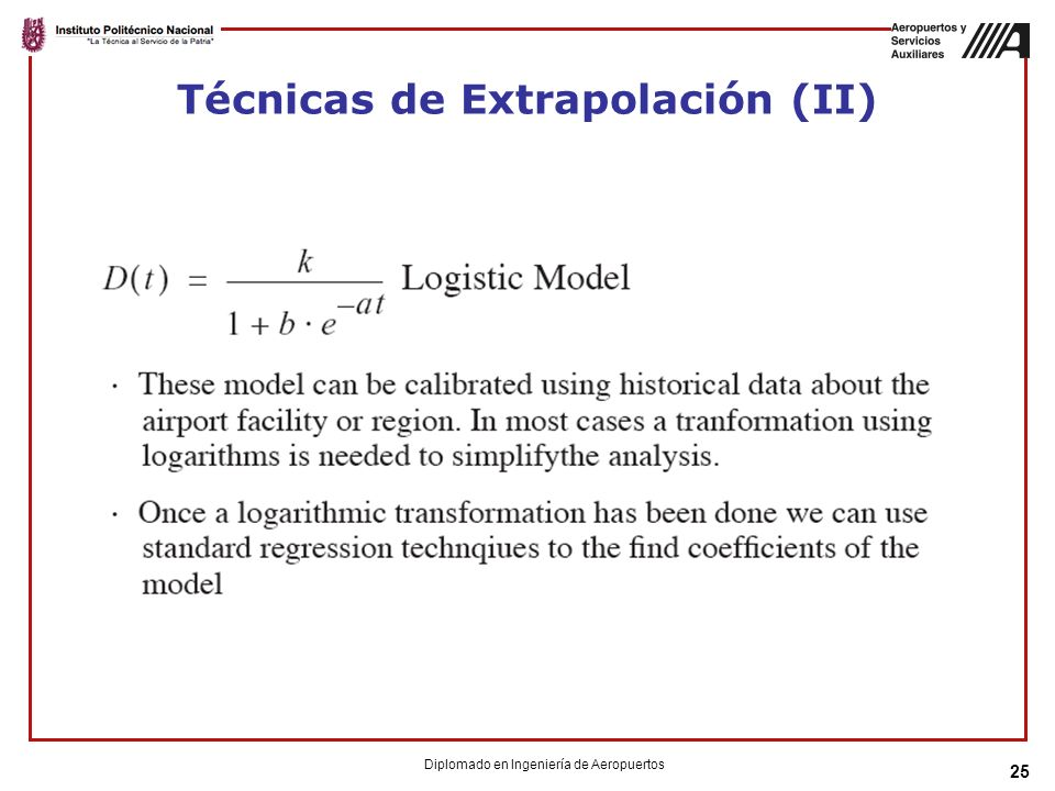 Técnicas de Extrapolación (II)