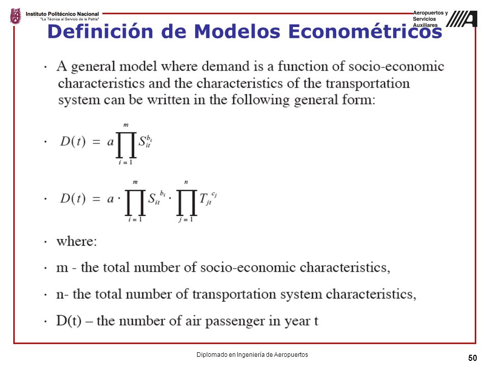 Definición de Modelos Econométricos