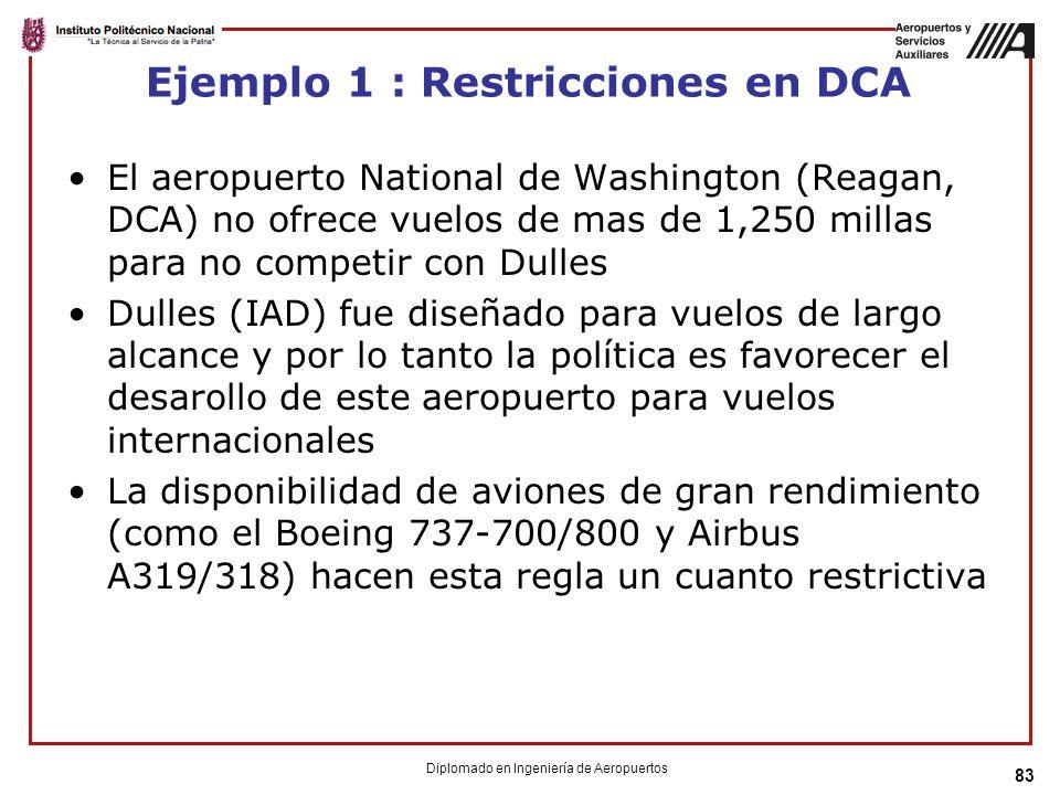Ejemplo 1 : Restricciones en DCA