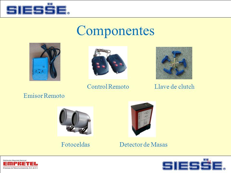 Componentes Control Remoto Llave de clutch Emisor Remoto Fotoceldas