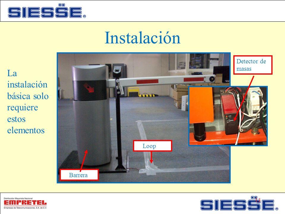 Instalación La instalación básica solo requiere estos elementos