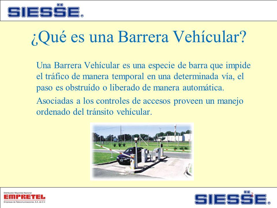 ¿Qué es una Barrera Vehícular