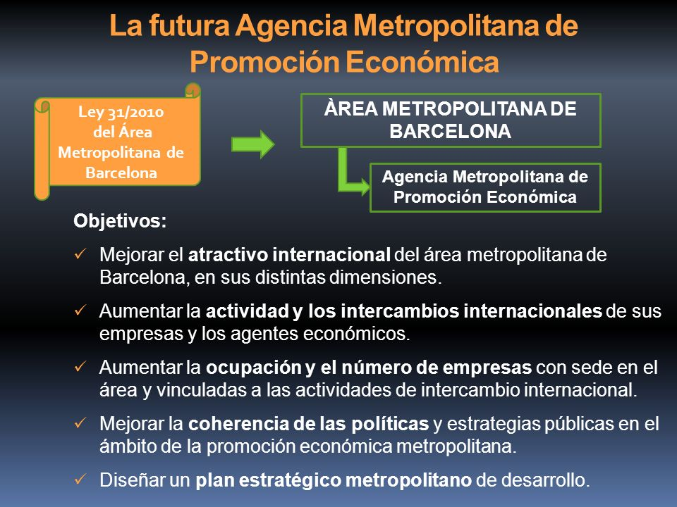 La futura Agencia Metropolitana de Promoción Económica